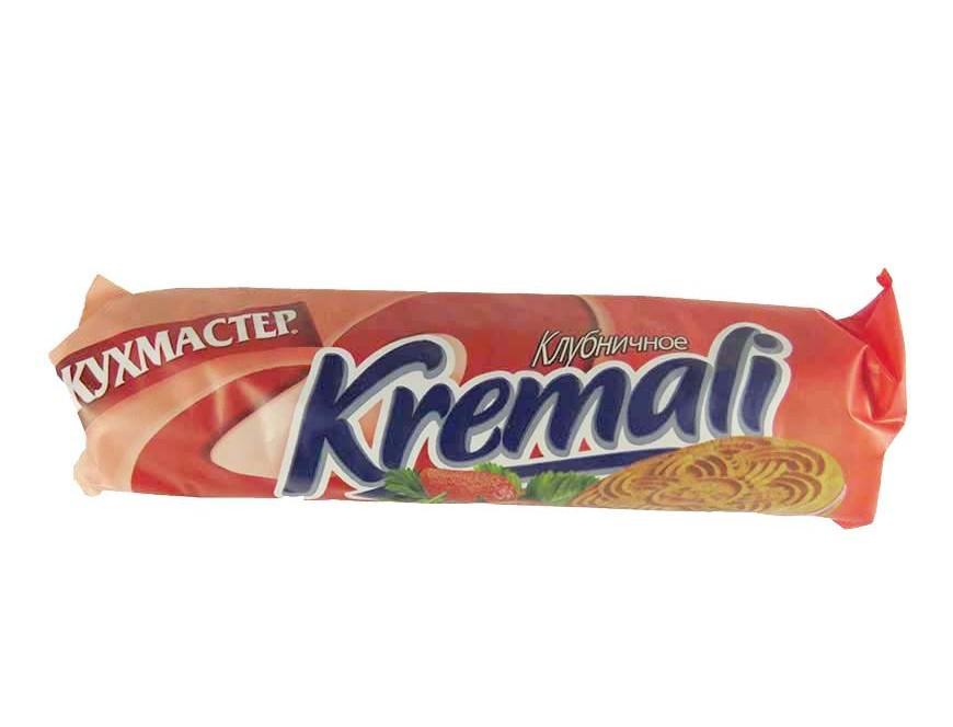 Печенье Кухмастер kremali клубничное