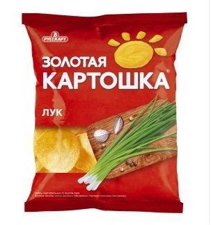 Чипсы Золотая Картошка картофельные со вкусом лука