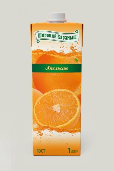 Сок Широкий Карамыш апельсиновый
