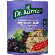 Хлебцы хрустящие Dr. Korner злаковый коктейль черничный