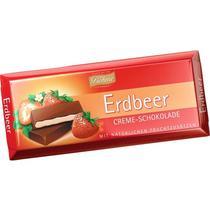 Шоколад Bohme Erdbeer темный с кремово-клубничной начинкой