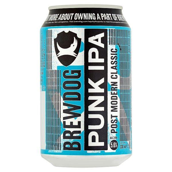 Пиво светлое Brewdog Punk Ipa фильтрованное непастеризованное 5,6% 0,33 л.