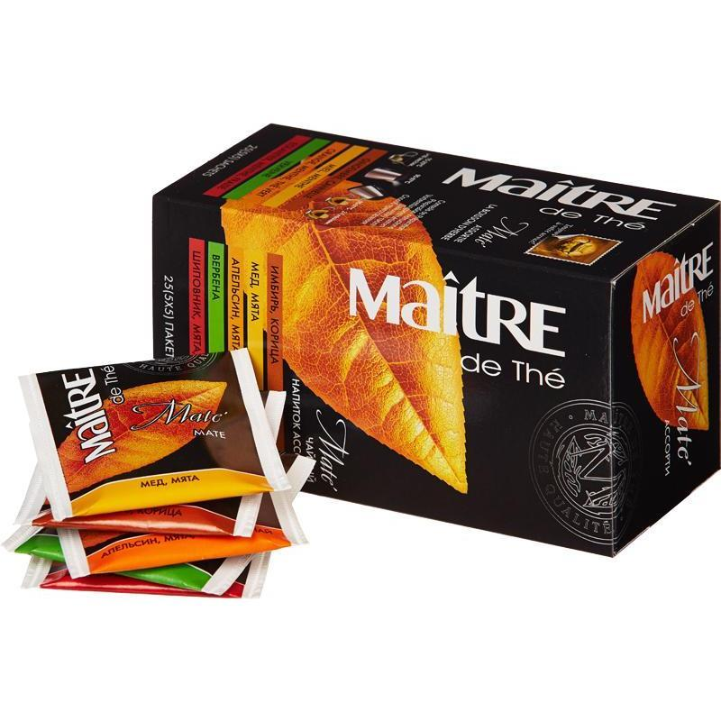 Чай Maitre Mate Ассорти 25 пакетов