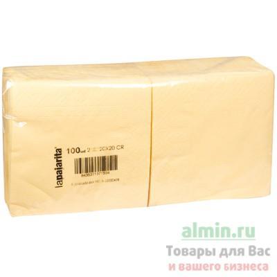 Салфетка Mapelor бумажная Шампань 20х20 см 2-сл 100 шт/уп