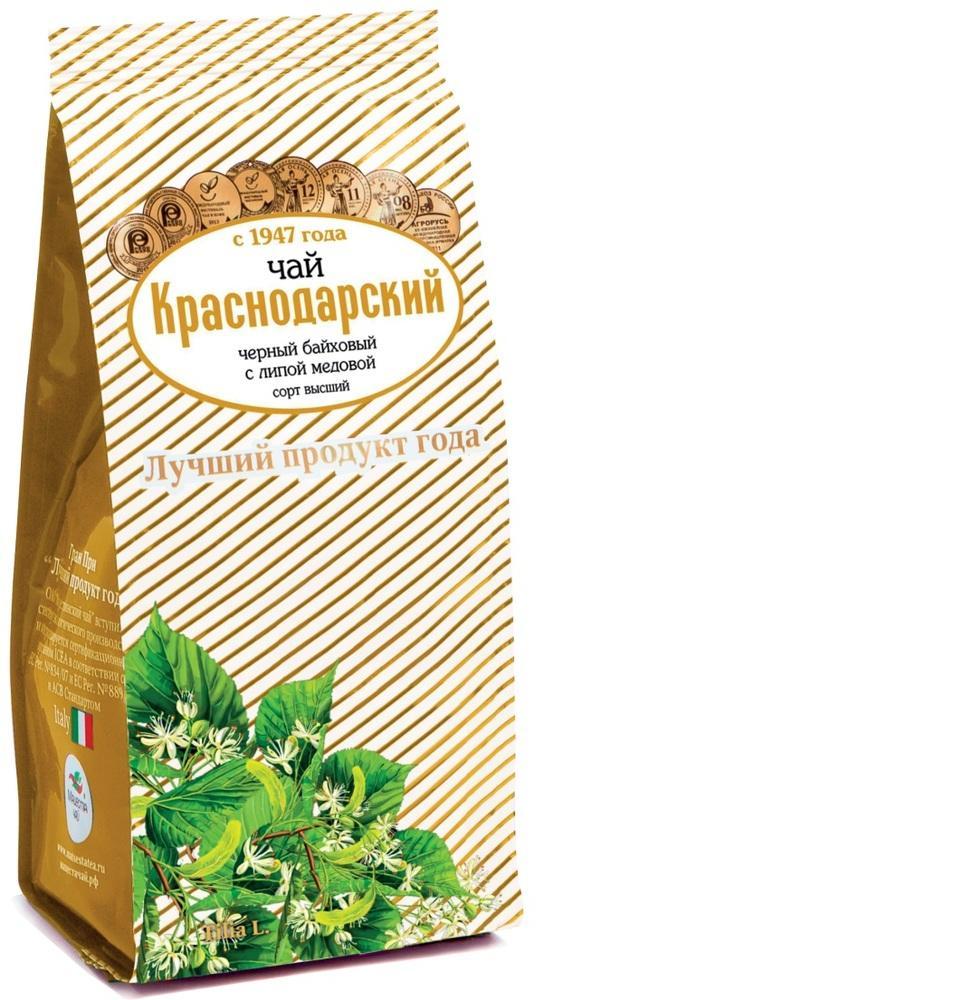 Чай Краснодарский с 1947 года черный байховый с липой медовой