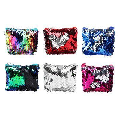 Сумочка для мелочи PAVO с пайетками, полиэстер, пластик, 11х8х3см, 6 цветов