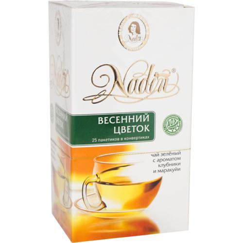 Чай зеленый Nadin Весенний цветок 25 пакетов