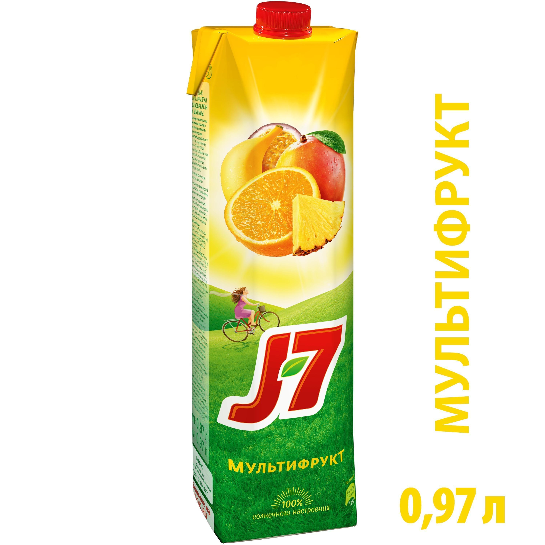 """Нектар""""J7"""" Мультифрукт TpSq 0,97л ф-12"""