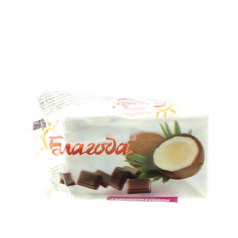 Сырок Благода кокос и шоколад творожный 17%