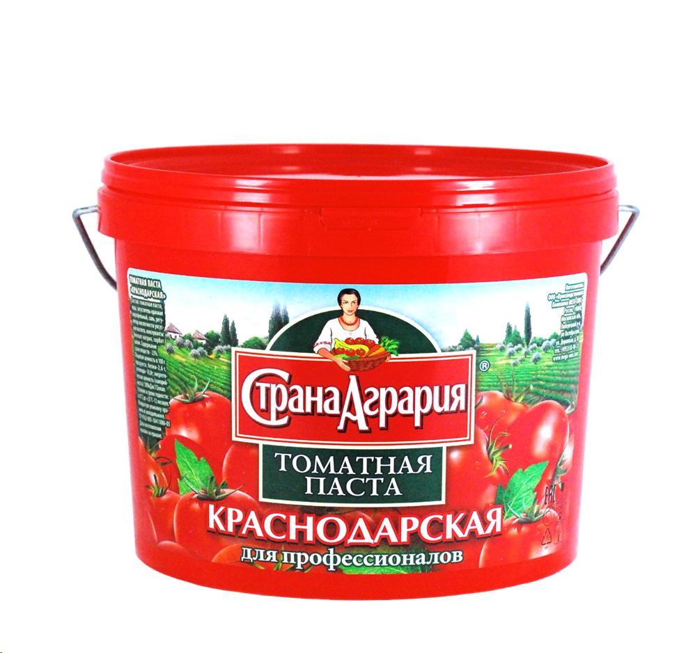 Томатная паста Страна Агрария Краснодарская 23%, Россия