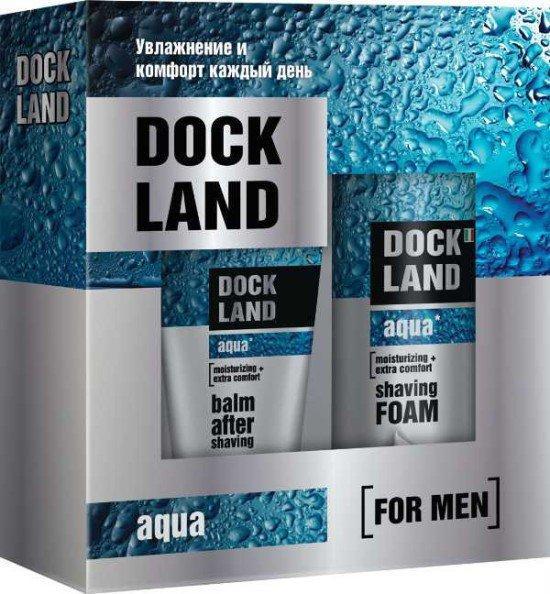Набор Aqua №1 Пена для бритья Dockland + Лосьон после бритья Dockland