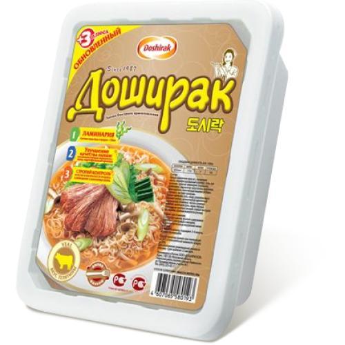 Лапша быстрого приготовления  Доширак со вкусом телятины
