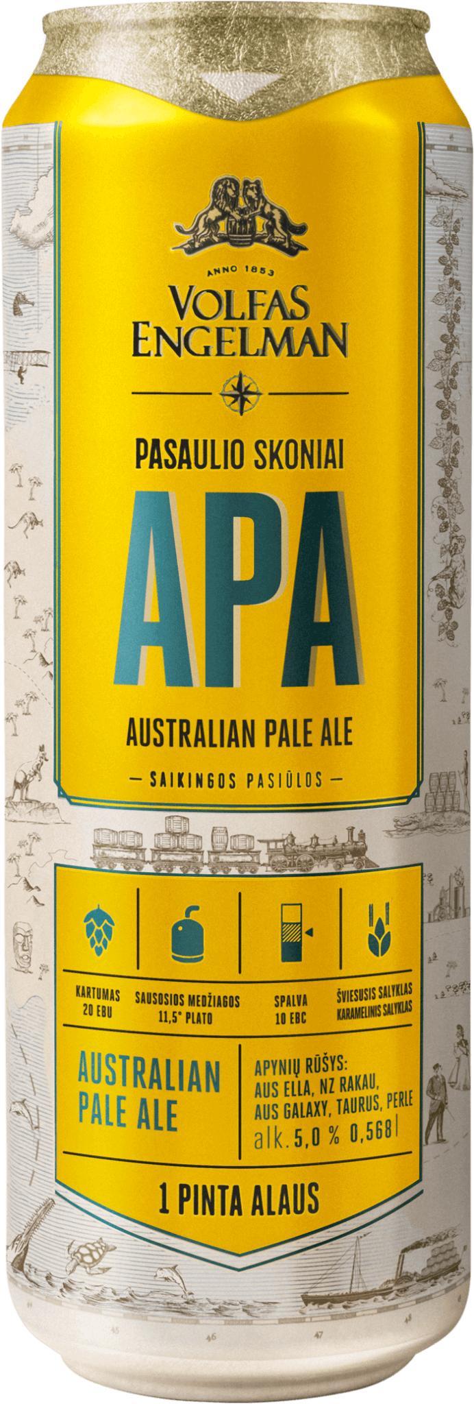 Пиво Volfas Engelman APA светлое фильтрованное 5%