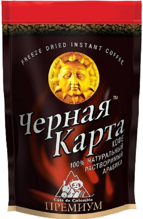 Кофе Черная Карта Премиум растворимый сублимированный 190 гр.