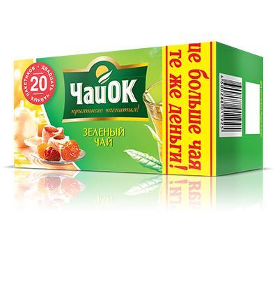 Чай ЧайОк зеленый мелколистовой байховый 30 гр