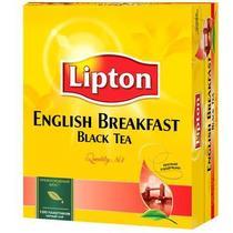 Чай чёрный Lipton English Breakfast 100 пакетов 200 гр
