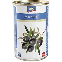 Оливки Aro черные без косточки