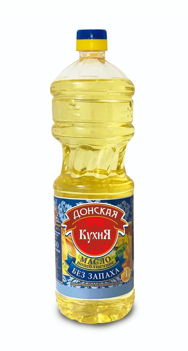 Масло подсолнечное в/с Донская кухня рафинированное дезодорированное 1 л.