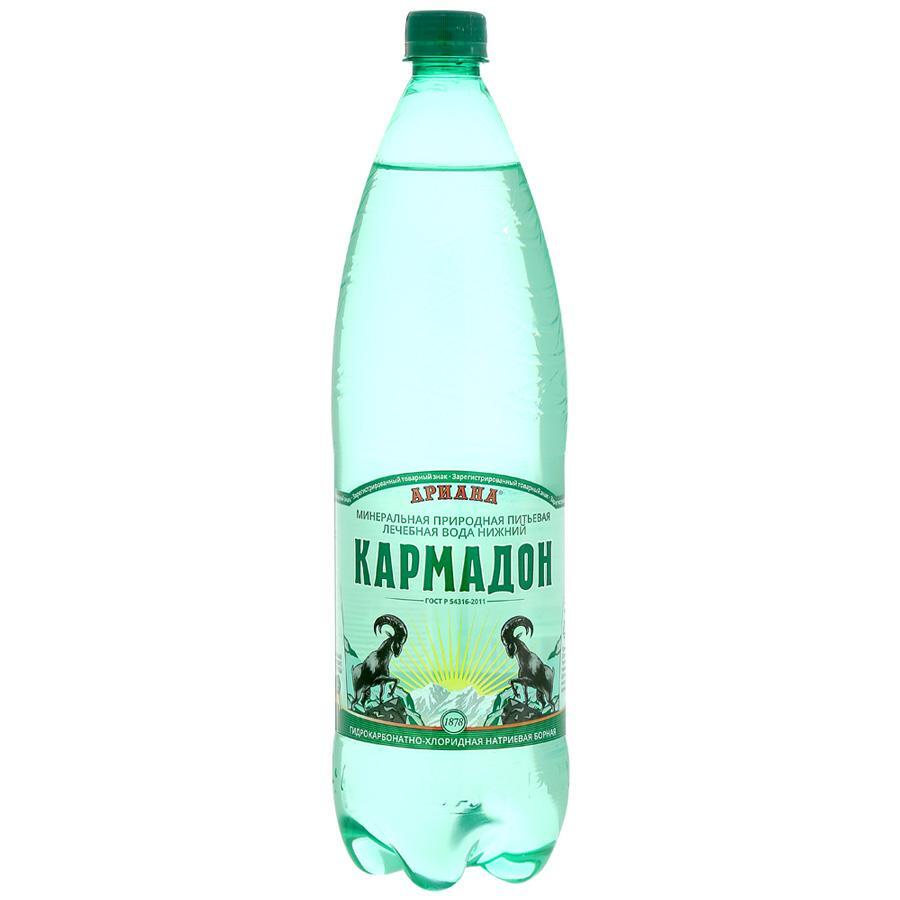 Вода минеральная Ариана Кармадон Газированная