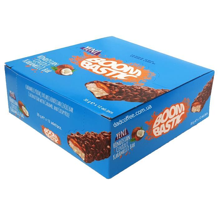 Шоколадный батончик BoomBastic кокосовый Блок 12 шт