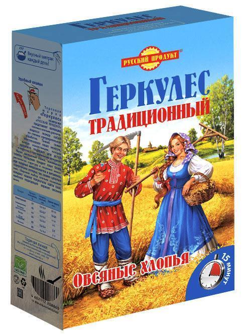 Хлопья овсяные Русский Продукт Геркулес традиционные