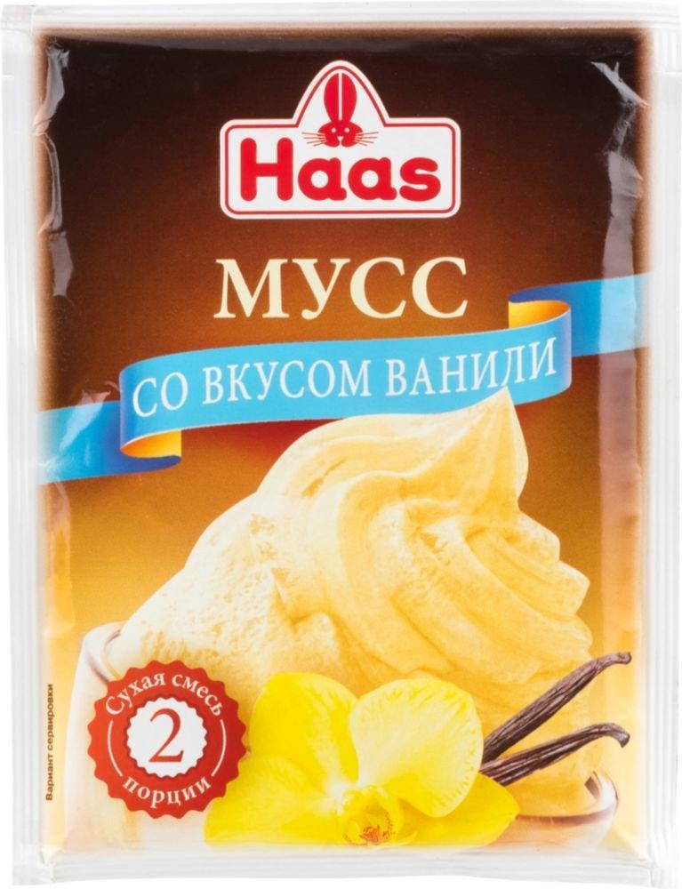 Мусс Haas со вкусом ванили