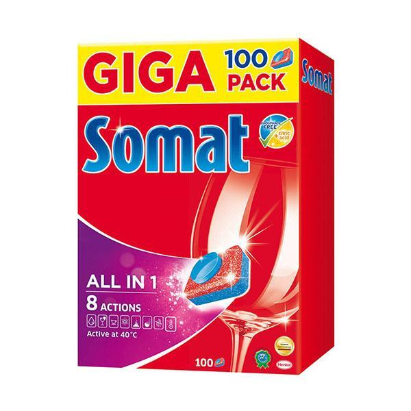Таблетки для посудомоечной машины Somat All in 1 Lemon & Lime 100 таб.