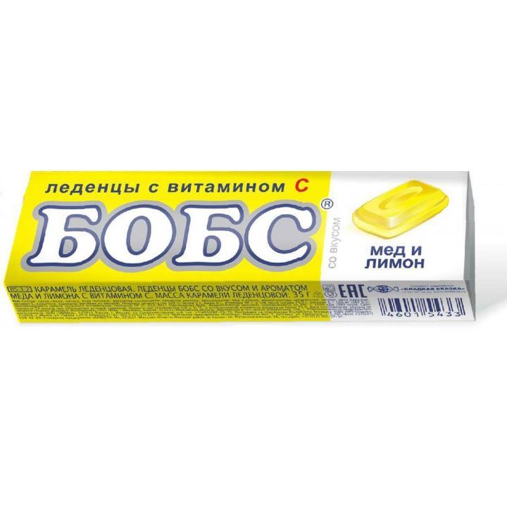 Драже Бобс Леденцы медово-лимонные с витамином С