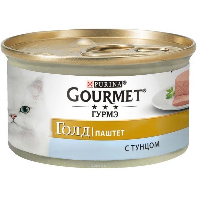 Консервы Gourmet Gold Для кошек паштет с тунцом