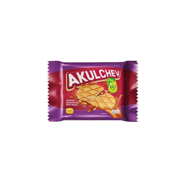 Печенье Akulchev вафельное сахарное хрустящее
