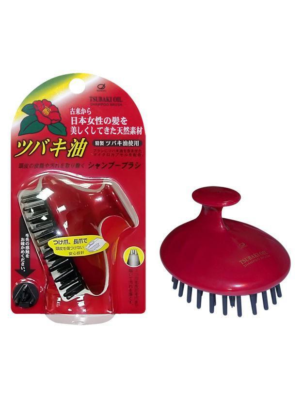 Щетка массажная  Ikemoto Tsubaki Oil Head для очищения кожи головы с маслом камелии