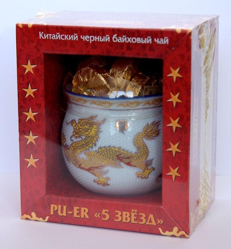 Чай Конфуций Pu-er Пять звёзд подарочный 58 гр