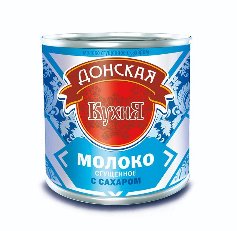 Сгущенное молоко с сахаром Донская Кухня ГОСТ, 380 гр, ж\б