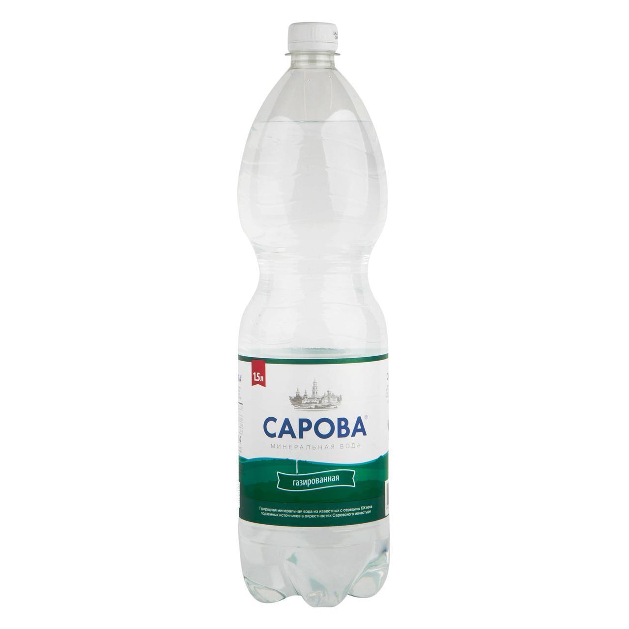 Вода Сарова питьевая минеральная негазированная