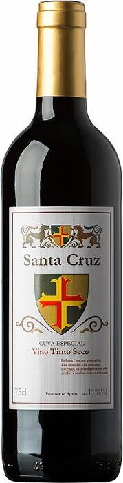 Вино Санта Круз / Santa Cruz Red Dry,  Темпранийо,  Красное Сухое, Испания