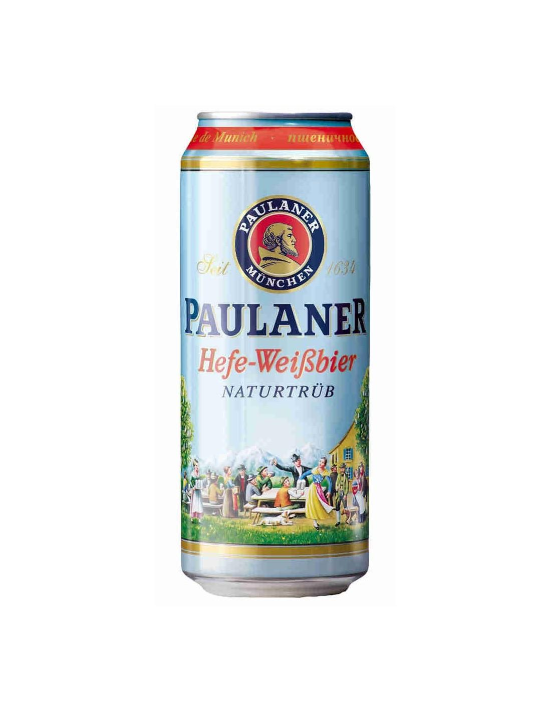 Пиво Paulaner Hefe-Weissbier светлое нефильтрованное пастеризованное 5,5%