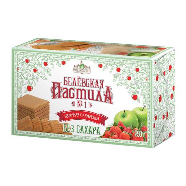 Пастила Белевские Сладости яблочная с клубникой
