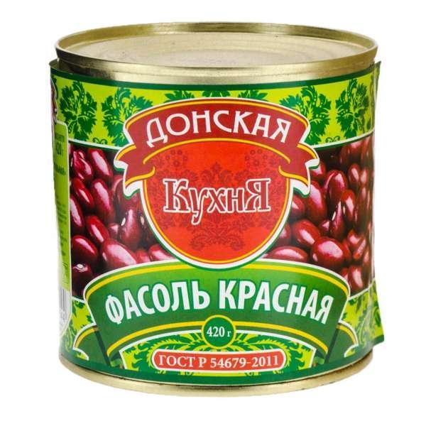 Фасоль Донская Кухня Красная натуральная