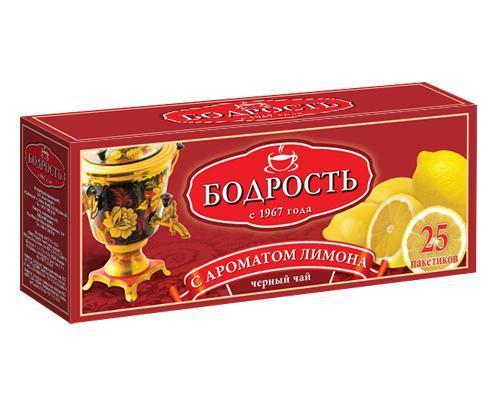 Чай Бодрость черный с ароматом лимона 50 гр