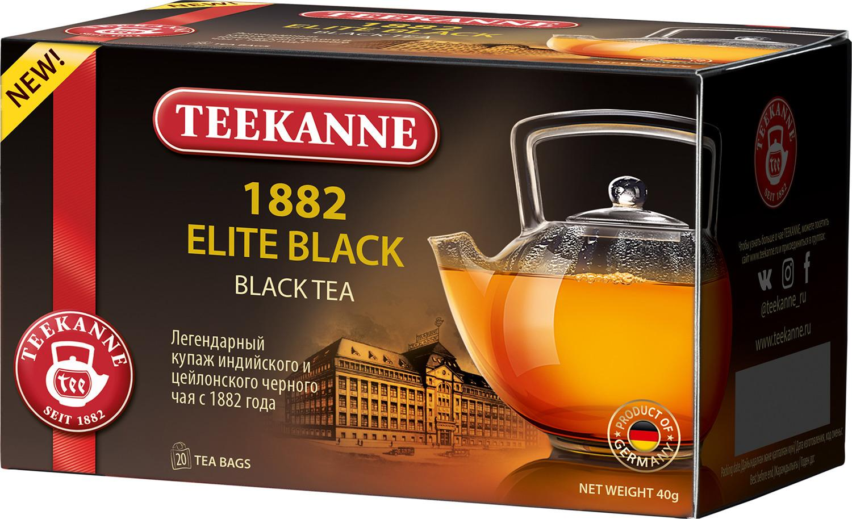 Чай черный Teekanne 1882 Elite Black 20 пакетов