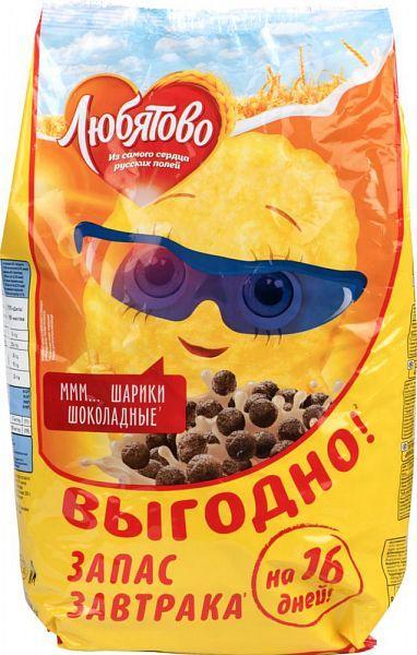 Готовый завтрак Любятово шоколадные шарики 500г