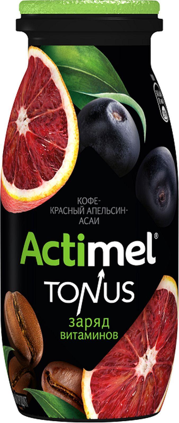 Напиток Actimel Tonus Кофе Красный Апельсин Асаи