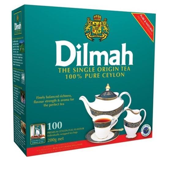 Чай Dilmah натуральный зеленый,100 шт