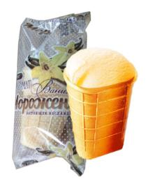 Мороженое Ногинское мороженое Пломбир ванильный в плоском вафельном стаканчике