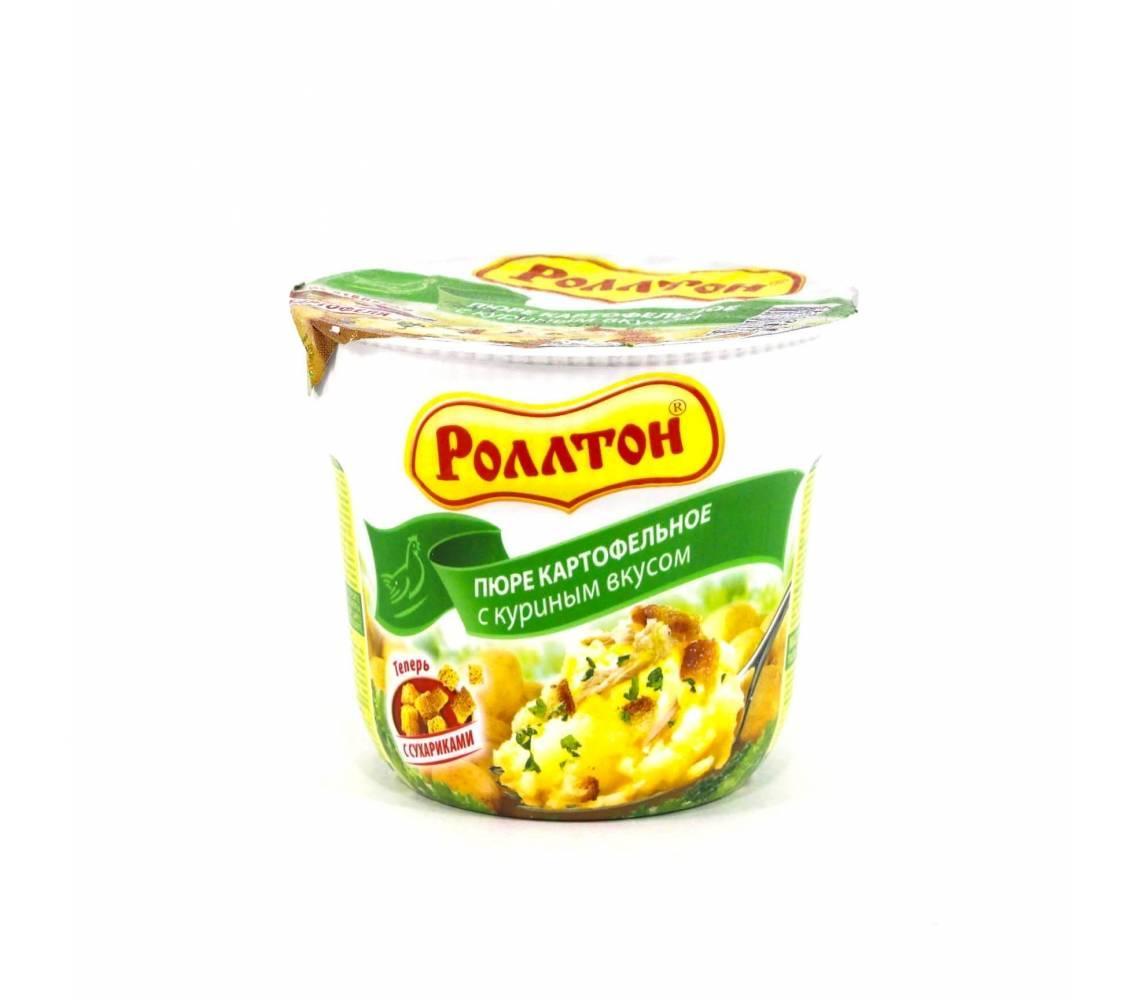 Пюре картофельное Роллтон с курицей
