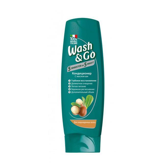 Кондиционер Wash&Go Shea Butter для поврежденных волос