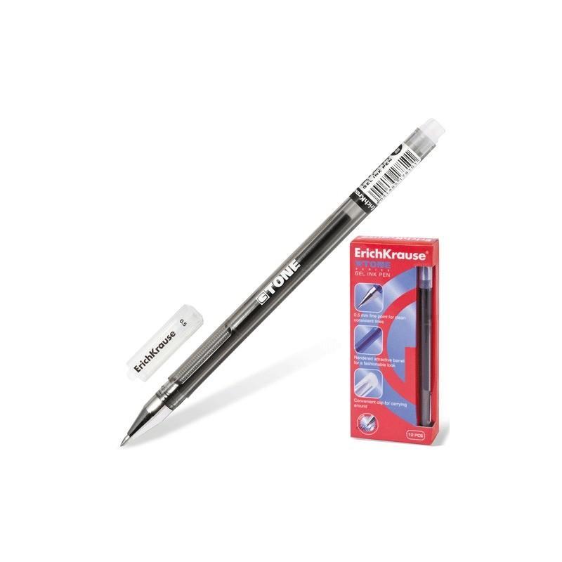 Ручка гелевая Erich Krause G-Tone корпус черный черная