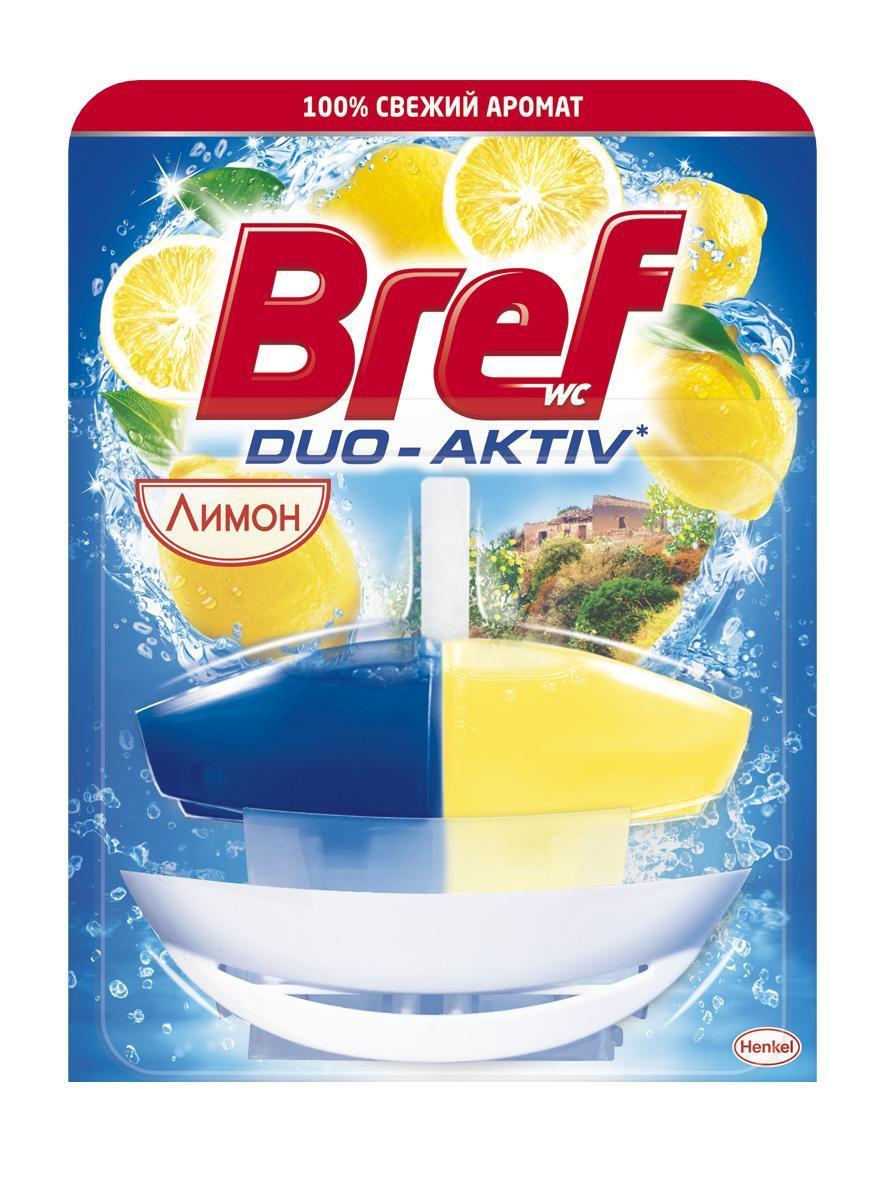 Чистящее средство для унитаза Bref Duo Aktiv Лимон