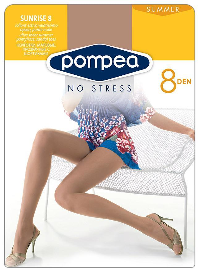Колготки женские 8 ден, Pompea Санрайз, Пластиковая упаковка