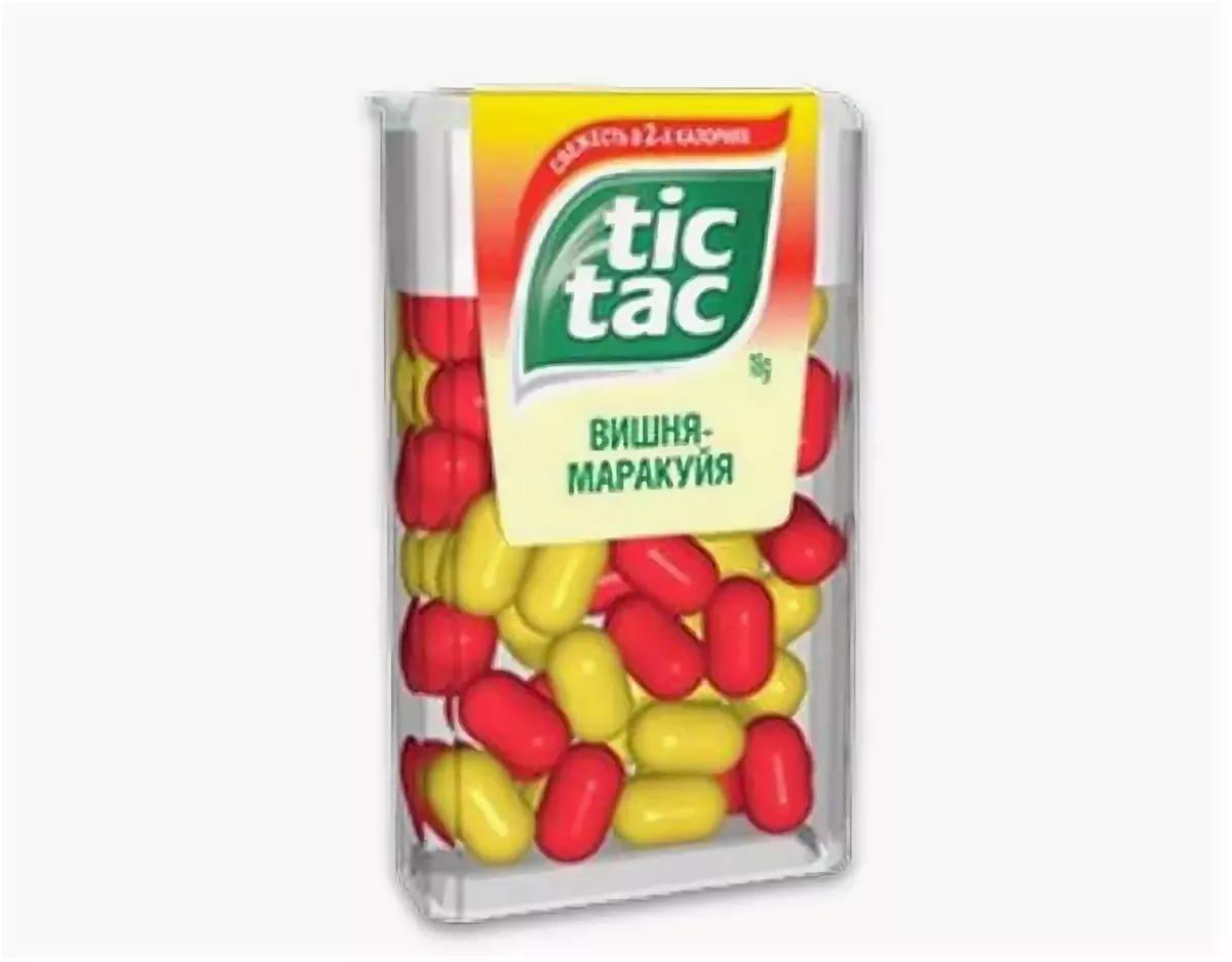 Драже Tic Tac со вкусом вишни апельсина и маракуйи